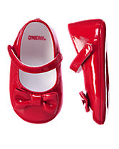 Patent Bow Crib Shoes