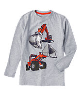 Construction Diggers Long Sleeve Tee