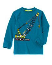 Construction Crane Long Sleeve Tee