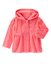 Fleece Hooded Coat