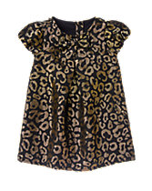 Leopard Print Jacquard Dress