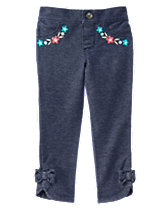 Floral Trim Jeggings