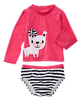 Pretty Pup Rash Guard Set