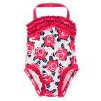Rose Print One-Piece Swimsuit