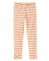 Striped Bow Leggings
