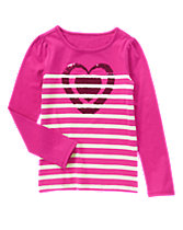 Striped Heart Tee