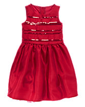 Sequin Striped Dress