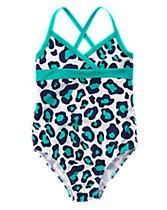 Leopard Print One-Piece Swimsuit