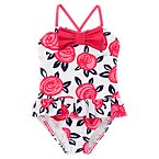 Rose Print One-Piece Swimsuit