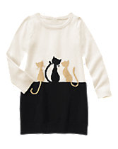 Kitten Pals Sweater Dress