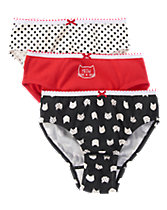 Kitty Dot Underwear Three-Pack