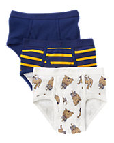 Bull Dog Blue  Briefs Three-Pack