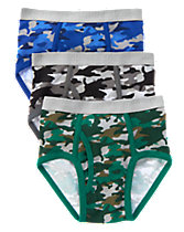 Camo Briefs Three- Pack