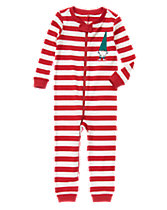 Gnome Striped One-Piece Pajamas
