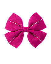 Pick-Stitched Bow Clip