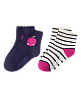 Apple & Striped Socks Two-Pack