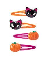 Cat & Pumpkin Clips Four-Pack