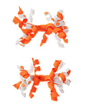 Pumpkin Curly Clips Two-Pack
