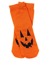Jack-O'-Lantern Socks