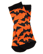 Bat Print Socks
