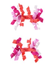 Curly Ribbon Barrettes Two-Pack