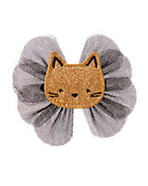 Glitter Kitten Bow Clip