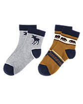 Moose & Fair Isle Grizzly Socks Two-Pack