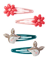 Daisy & Deer Clips Four-Pack