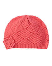 Pointelle Sweater Hat