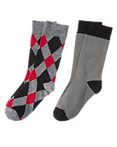 Argyle & Colorblock Socks Two-Pack