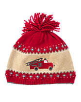 Fire Truck Sweater Hat