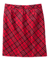 Mom Plaid Pencil Skirt