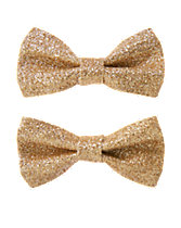 Glitter Bow Clips Two-Pack