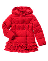 Olivia Ruffle Puffer Jacket