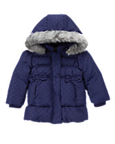 Fur-Trim Down-Filled Puffer Jacket