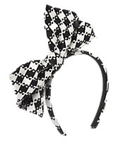 Checked Bow Headband