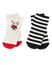 Olivia & Striped Socks Two-Pack