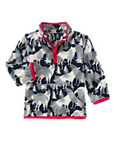 Fleece Wolf Pullover