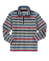 Striped Fleece Pullover