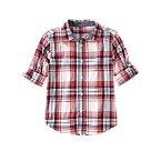 Roll Cuff Plaid Shirt