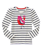 Feathered Friend Striped Tee