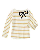 Sequin Bow Striped Top