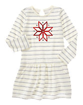 Snowflake Striped Dress