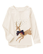 Reindeer Sparkle Long Sleeve Tee