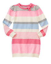 Multi-Striped Sweater Dress