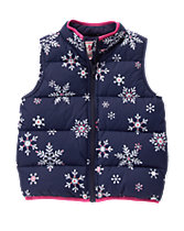Snowflake Puffer Vest
