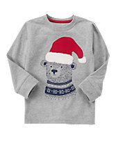 Santa Bear Long Sleeve Tee