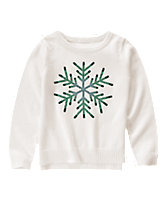 Sequin Snowflake Sweater