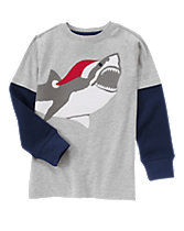 Merry Shark Long Sleeve Tee