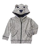 Slub Bear Hoodie